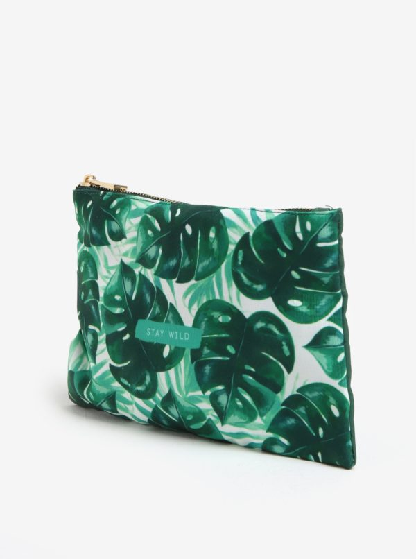 Zelená kozmetická taštička Sass & Belle
