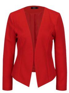 Červené rebrované sako ONLY Anna