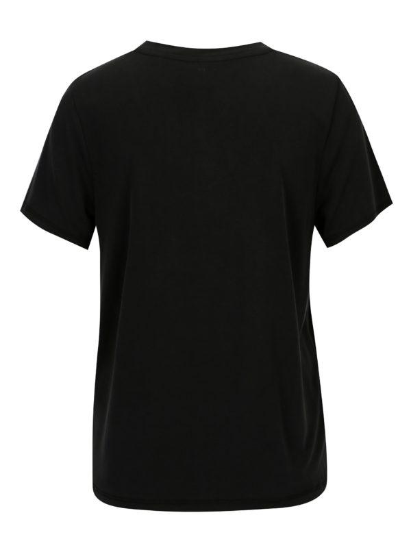 Čierne basic voľné tričko ONLY Venus