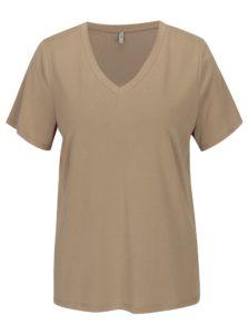 Béžové voľné basic tričko ONLY Venus