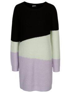 Fialovo-čierny dlhý sveter Noisy May Verona
