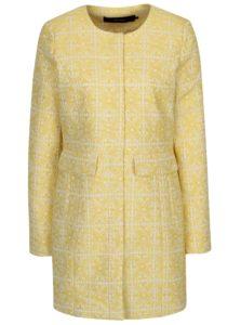 Krémovo-žltý vzorovaný kabát VERO MODA Sylva