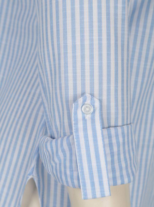 Biel-modrá pruhovaná košeľa s výšivkou Dorothy Perkins