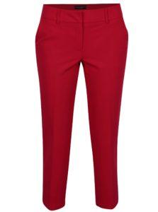 Červené skrátené nohavice s rozparkami Dorothy Perkins