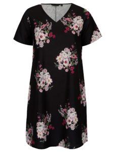 Čierne kvetované šaty Dorothy Perkins Curve 0cbea00f86d