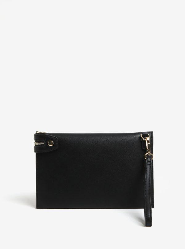 Čierna koženková listovka Gionni Beryl
