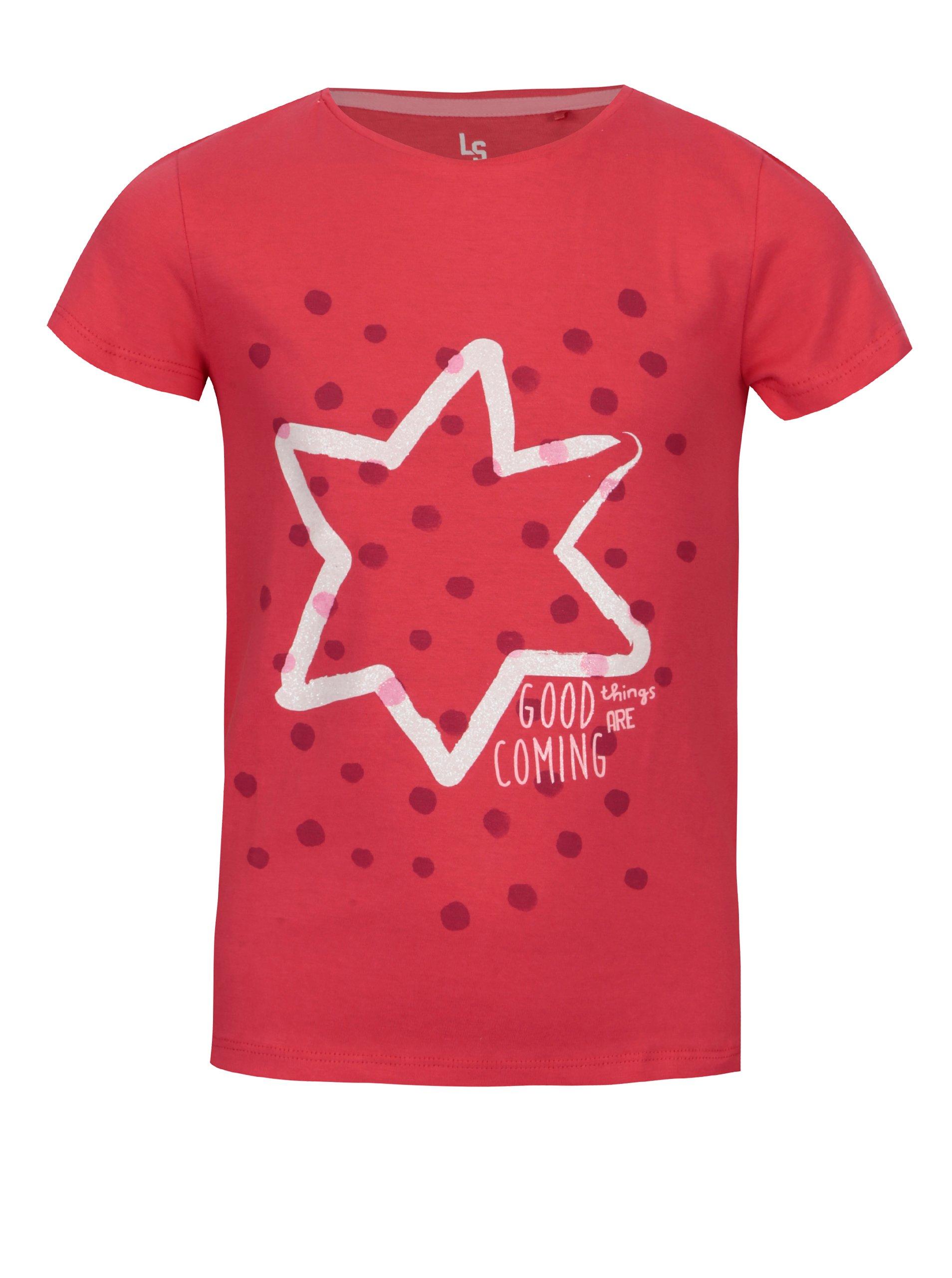 6e1c46671c25 Ružové dievčenské tričko s potlačou 5.10.15.