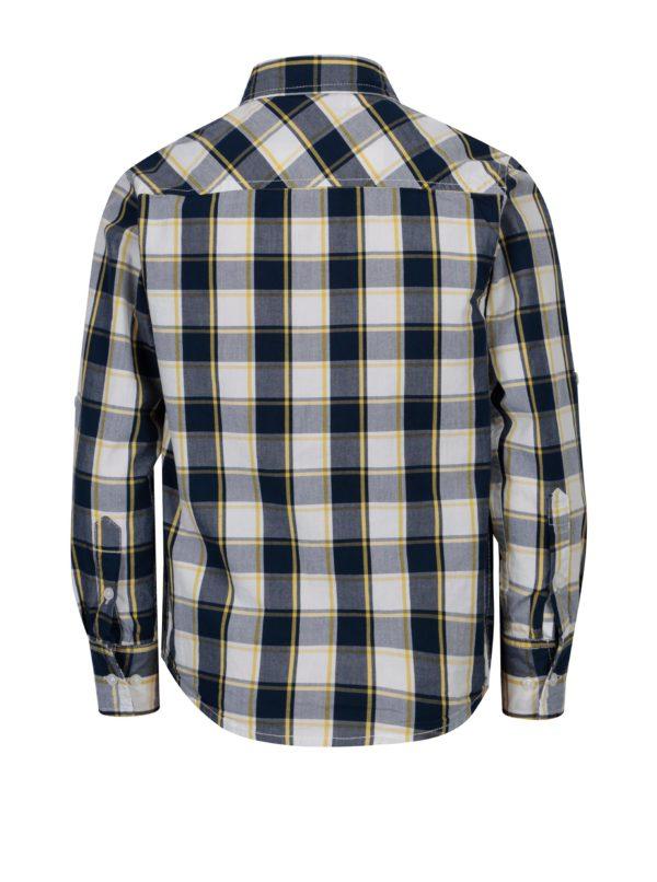 Modrá chlapčenská károvaná košeľa s dlhým rukávom 5.10.15.