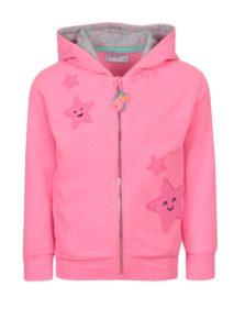 Ružová dievčenská mikina s nášivkou hviezd 5.10.15.
