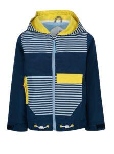 Tmavomodrá chlapčenská pruhovaná nepremokavá bunda 5.10.15.