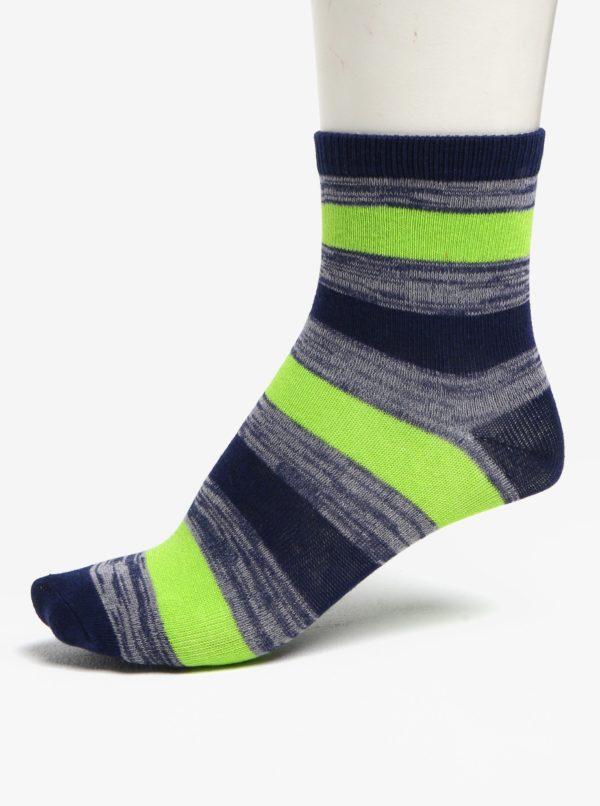 Súprava troch párov chlapčenských ponožiek v zelenej a modrej farbe 5.10.15.