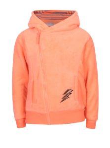 Oranžová dievčenská mikina s kapucňou 5.10.15.