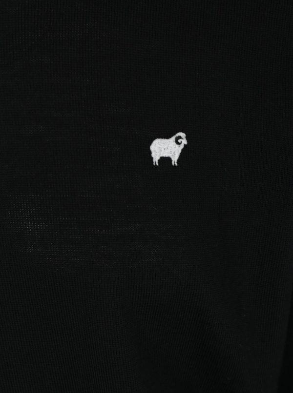 Čierny pánsky tenký sveter z merino vlny Makia Merino