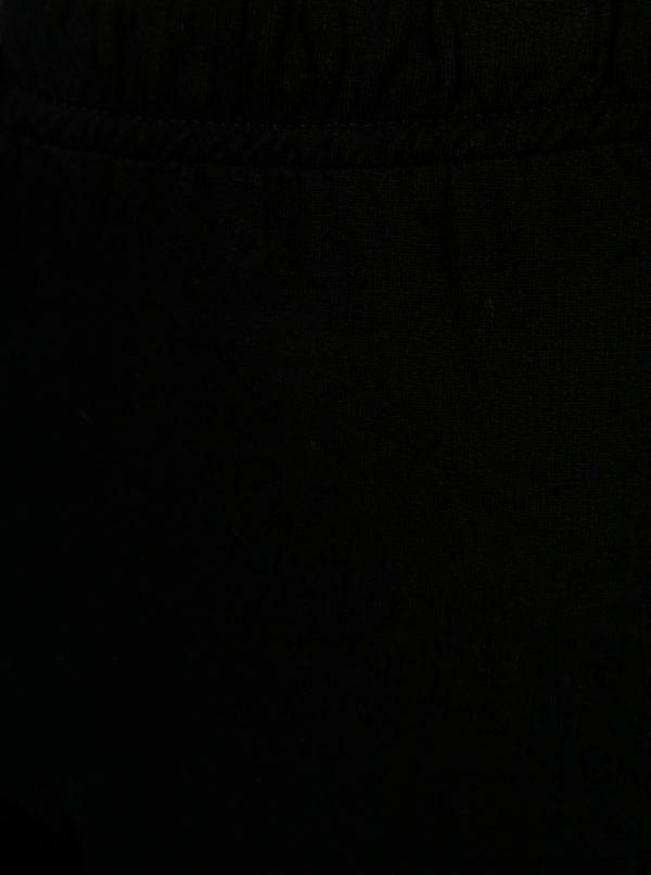 Čierne chlapčenské tepláky s gumou v páse 5.10.15.