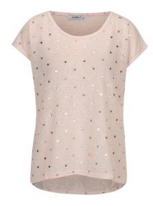 Svetloružové priesvitné tričko so srdiečkami Haily's Gini