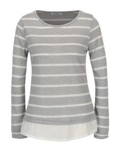 Sivý pruhovaný tenký sveter Haily´s Malon