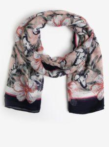 Modro-ružová kvetovaná šatka Pieces Marcia