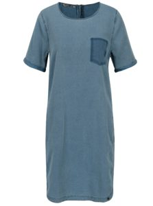 Modré dámske šaty s vreckami Garcia Jeans