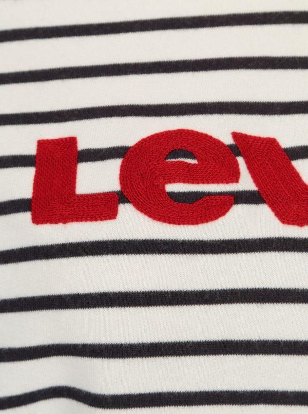 Modro-biela pruhovaná dámska mikina s nášivkou Levi's®