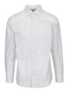 Biela vzorovaná slim fit košeľa Selected Homme One Pen