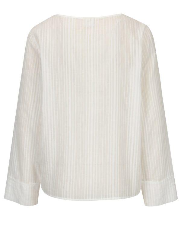 Biela blúzka s jemným vzorom Selected Femme Luellek