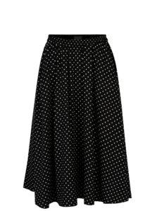 Čierna bodkovaná sukňa s vreckami Selected Femme Millado