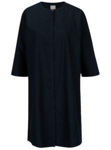 Tmavomodré košeľové šaty s 3/4 rukávom Selected Femme Aman