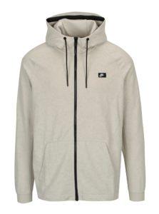 Krémová pánska mikina s kapucňou Nike
