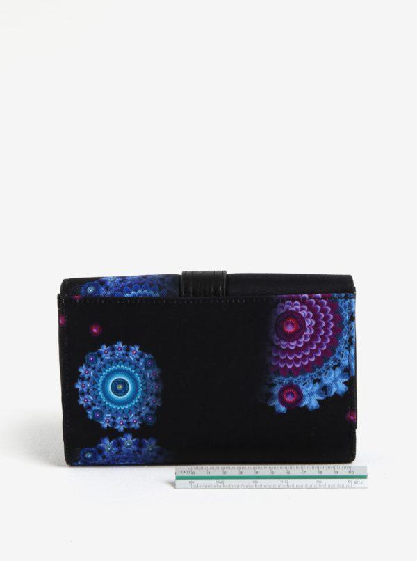 Čierna veľká peňaženka s ornamentmi Desigual Bollywood Lengüeta