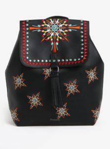 Čierny batoh s výšivkou Desigual Sandy