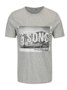 Sivé tričko s potlačou ONLY & SONS Stuart