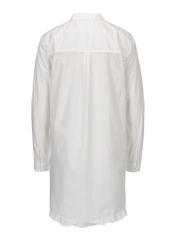 Biela dlhá áčková košeľa ONLY Monique