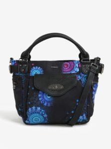 Čierna vzorovaná kabelka s flitrami Desigual McBee
