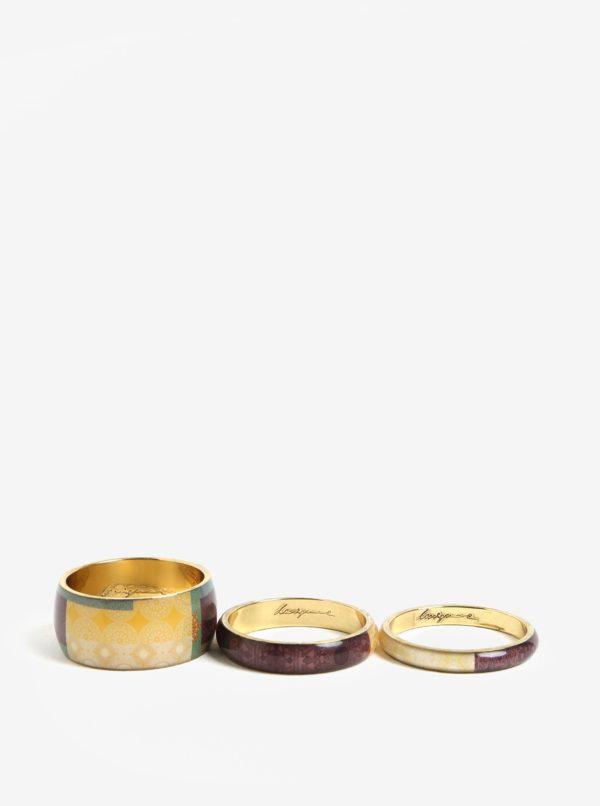 Súprava troch náramkov vo svetlofialovej farbe Desigual Digital