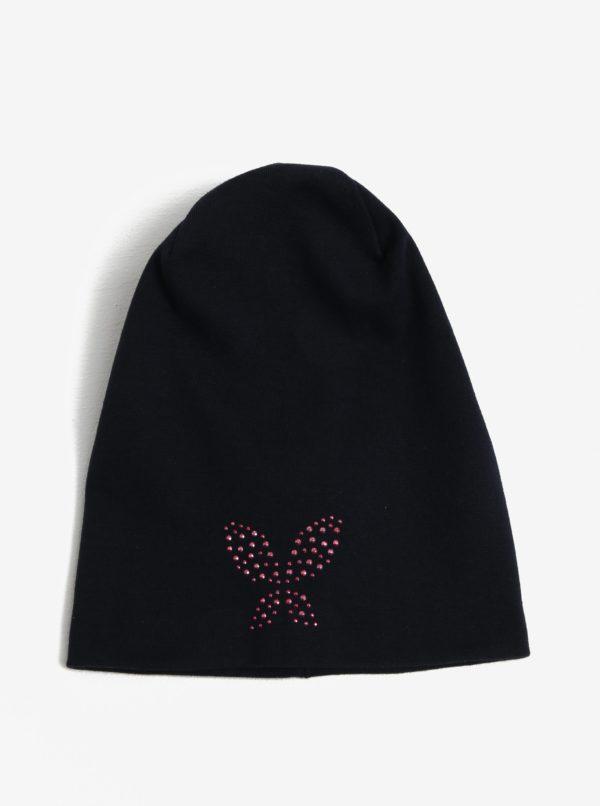 Tmavomodrá dievčenská čiapka name it Moppy