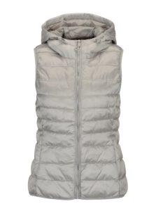 Prešívaná vesta v striebornej farbe ONLY Tahoe Shimmer