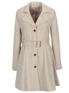 Béžový melírovaný kabát s opaskom ONLY Hallo