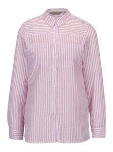 Krémovo–ružová pruhovaná košeľa Dorothy Perkins Petite