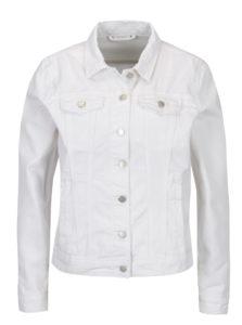 Biela rifľová bunda VILA Jules
