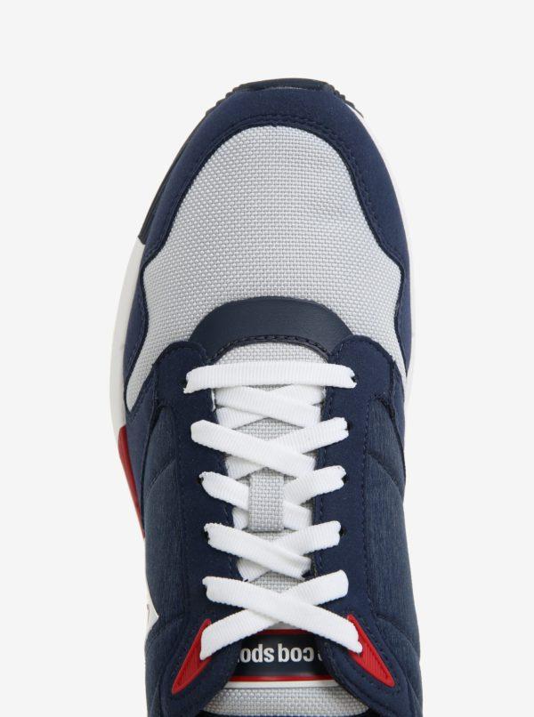 Modro-biele pánske tenisky s logom Le Coq Sportif Omega Techlite