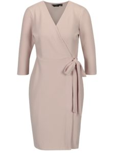 Svetloružové zavinovacie šaty Dorothy Perkins