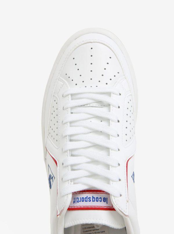 Modro-biele pánske kožené tenisky Le Coq Sportif Icons Lea Sport Gum