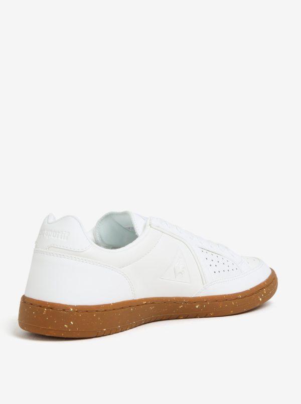 Biele pánske kožené tenisky Le Coq Sportif Icons Lea Gum