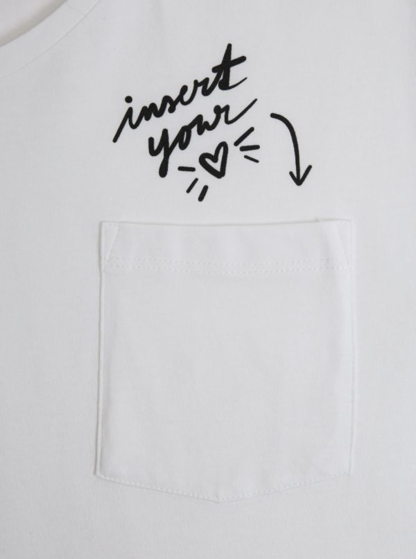 Biele pánske tričko ZOOT Original Insert your heart
