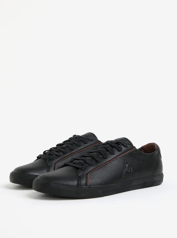 Čierne pánske koženkové tenisky Le Coq Sportif Feret