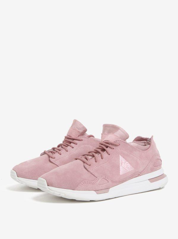 Ružové dámske semišové tenisky Le Coq Sportif Flow