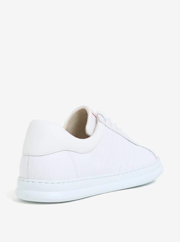 Biele pánske nízke kožené tenisky Camper Runner