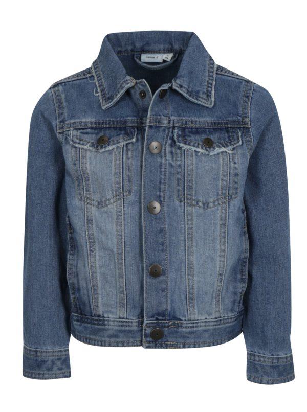 Modrá chlapčenská rifľová bunda name it Terrence