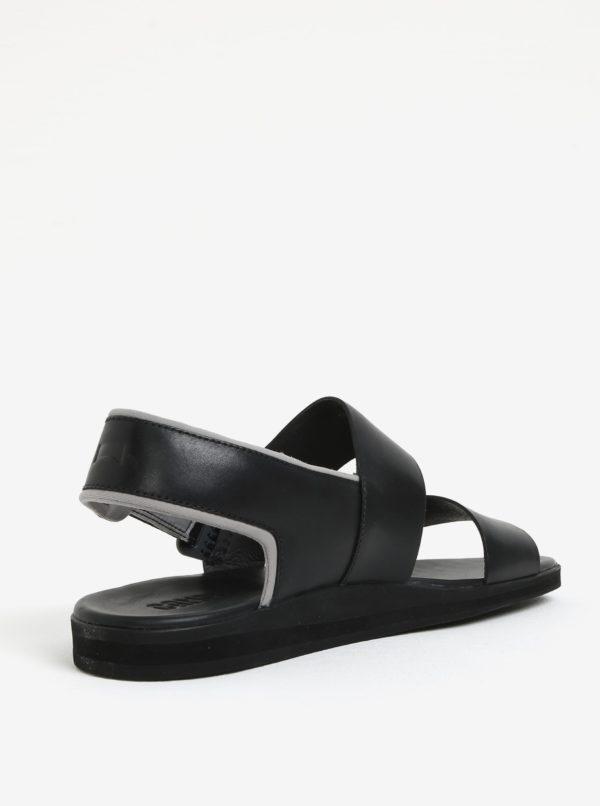 Čierne pánske kožené sandále Camper