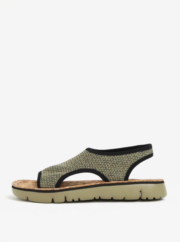 Zelené dámske melírované sandále Camper Oruga